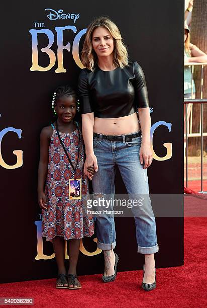 Physical trainer Jillian Michaels and Lukensia Michaels Rhoades attend Disney's The BFG premiere at the El Capitan Theatre on June 21 2016 in...