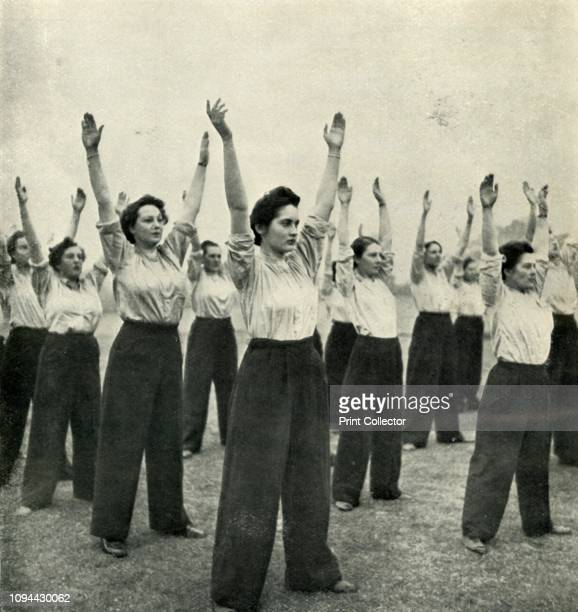 Physical Training at a Recruits' Depot', circa 1943. The Women's Auxiliary Air Force , whose members were referred to as 'WAAFs', was the female...