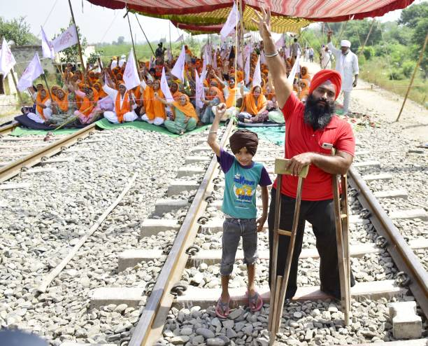 IND: 'Rail Roko' Protest Against Farm Bills in Punjab