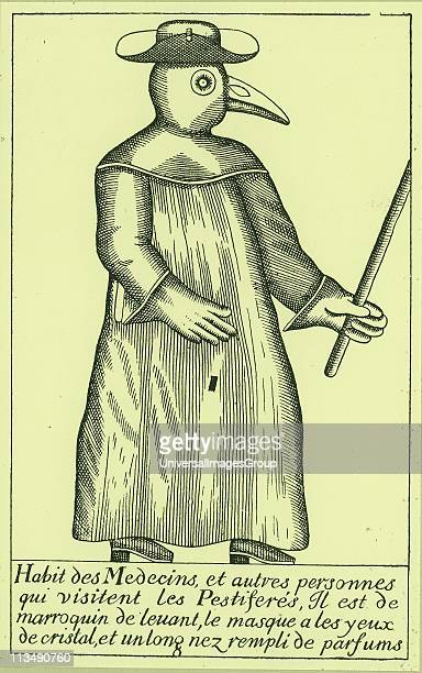Physician in protective clothing during an outbreak of Plague From Manget Triate de la peste 1721