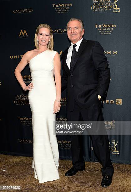 Physician Jennifer Ashton and Dr Andrew P Ordon MD pose in the press room at the 43rd Annual Daytime Emmy Awards at the Westin Bonaventure Hotel on...