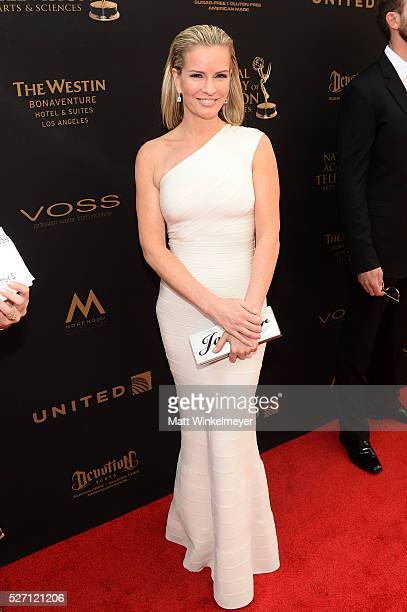Physician Jennifer Ashton walks the red carpet at the 43rd Annual Daytime Emmy Awards at the Westin Bonaventure Hotel on May 1 2016 in Los Angeles...
