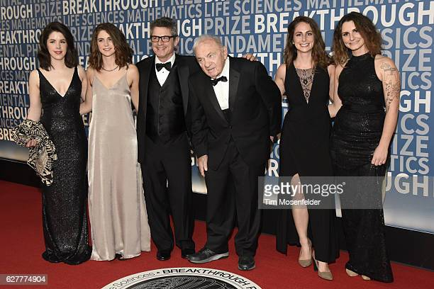 Physicist Andrew Strominger and family attend the 5th Annual Breakthrough Prize Ceremony at NASA Ames Research Center on December 4 2016 in Mountain...