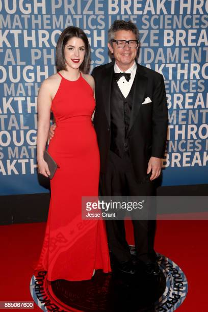 Physicist Andrew Strominger and guest attend the 2018 Breakthrough Prize at NASA Ames Research Center on December 3 2017 in Mountain View California