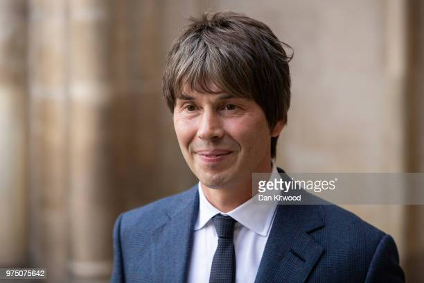 Physicist Brian Cox arrives at Westminster Abbey ahead of Professor Stephen Hawking's memorial service on June 15 2018 in London England The world...
