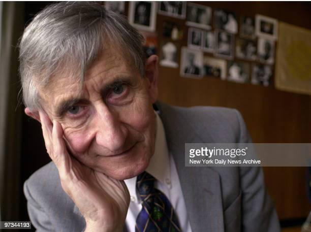 Physicist Freeman J Dyson winner of the 2000 Templeton Prize for Progress in Religion at The Church Center for the United Nations in New York where...