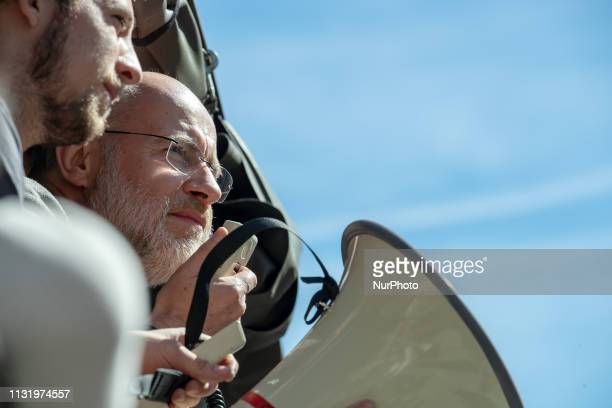 Physicist Harlad Lesch speaking to the protest On 2232019 10002000 young people protested in Munich against climate change and for the protection of...