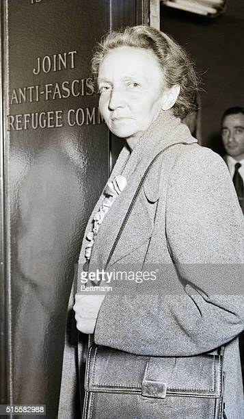 Physicist Irene JoliotCurie arrives at the office of the Joint AntiFascist Refugee Committee In 1948 she flew to New York seeking support for Spanish...