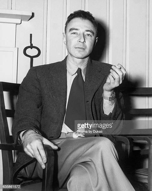 Physicist J Robert Oppenheimer Manhattan project atomic bomb