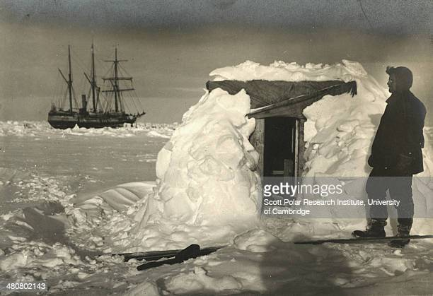 Physicist Reginald James at the door of his observatory during the Imperial TransAntarctic Expedition 191417 led by Ernest Shackleton The 'Endurance'...