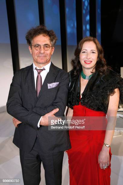Physicist Research Director CEA Etienne Klein and Former Laureate Molly Shoichet attend the 2018 L'Oreal UNESCO for Women in Science Awards Ceremony...