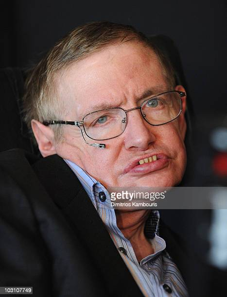 Physicist Stephen Hawking attends the 2010 World Science Festival Opening Night Gala at Alice Tully Hall Lincoln Center on June 2 2010 in New York...