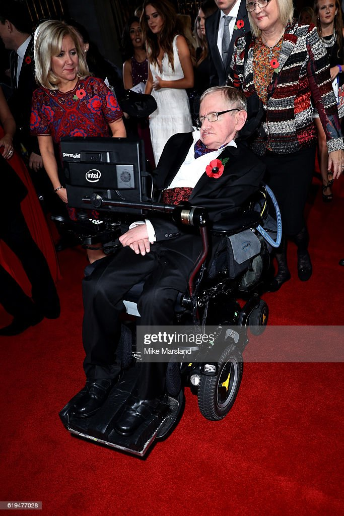 Physicist Stephen Hawking attends the Pride Of Britain Awards at The Grosvenor House Hotel on October 31, 2016 in London, England.