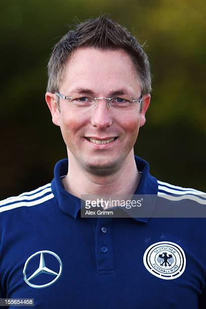 Physio therapist Sebastian Koehler during the Germany U15 team presentation at Bruchwegstadion on November 6 2012 in Mainz Germany