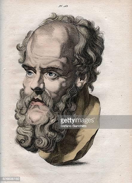Physiognomy Bust of Socrates Athenian philosopher gravure de 1808 in L'art de connaitre les hommes par la physionomie par Johann Gaspar Lavater 1806