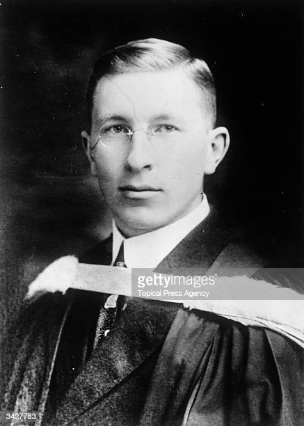 Physiologist Sir Frederick Banting co discoverer with Charles Best of insulin for which he was awarded the Nobel Prize in 1923