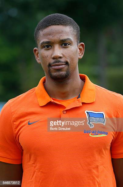 Physiotherapist Frederick Syna of Hertha BSC poses during the Hertha BSC Team Presentation on July 12 2016 in Berlin Germany