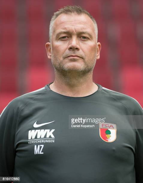 Physiotherapist Markus Zeyer of FC Augsburg poses during the team presentation at WWK Arena on July 17 2017 in Augsburg Germany