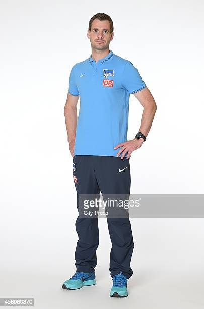 Physiotherapist Michael Becker during the photo shoot for the autograph cards on september 16 2014 in Berlin Germany