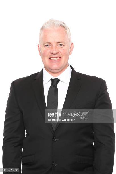 Physiotherapist Peter Gallagher poses during a New Zealand All Blacks headshots session on May 21 2018 in Auckland New Zealand