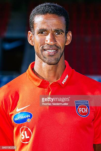 Physiotherapist Said Lakhal poses during the 1FC Heidenheim team presentation at VoithArena on July 5 2016 in Heidenheim Germany