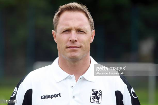 Physiotherapist Stephan Rainer of 1860 Muenchen poses during the Second Bundesliga team presentation of TSV 1860 Muenchen on July 11 2012 in Munich...