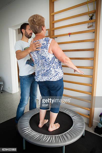 Physiotherapist, vestibular rehabilitation on patients who are suffering from vertigo, balance disorders, relating to the inner ear. A patient does...