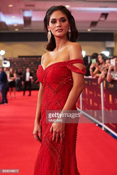 Pia Alonzo Wurtzbach Miss Universe 2015 on the red carpet before The 65th MISS UNIVERSE® contest held at the Mall of Asia Arena on January 29 2017 in...