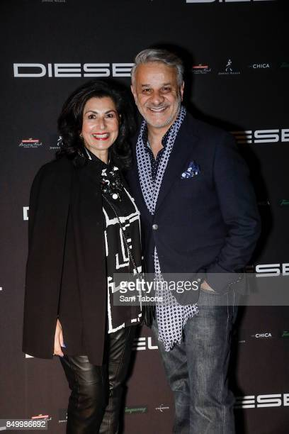 Pia and Dom Bagnato attends the Diesel Bar & Eatery launch on September 20, 2017 in Melbourne, Australia.