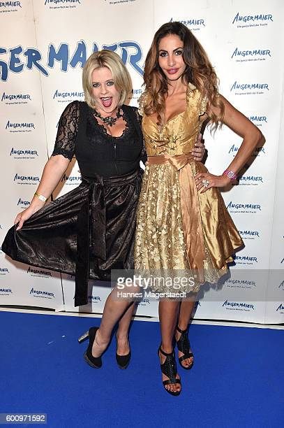 Pia Bolte and Janina Youssefian during the Angermaier Kicks Off Oktoberfest Season With 'TrachtenNacht' on September 8 2016 in Munich Germany