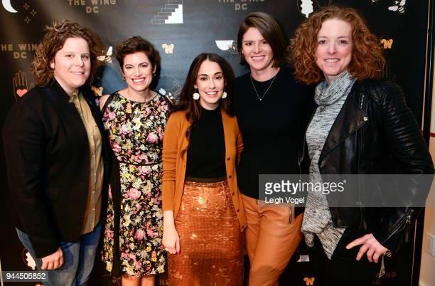 Pia Carusone Giovanna Gray Lockhart Audrey Gelman Kasie Hunt and Alison Jaslow attend The Wing DC Opening Celebration in Georgeotwn on April 10 2018...