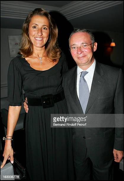 Pia De Brantes and Le Comte Philippe De Nicolay at Stephane Bern's 42nd Birthday Celebration At Sens In Paris