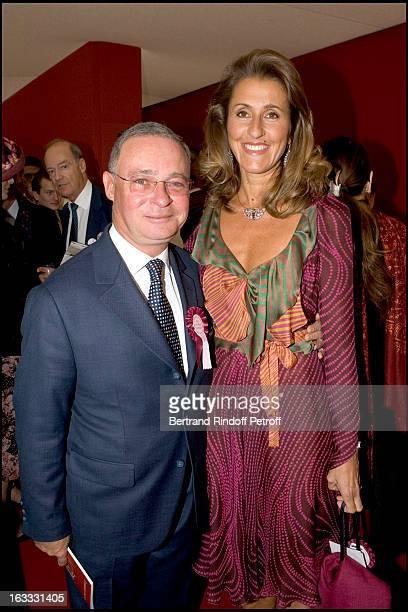 Pia De Brantes and Le Comte Philippe De Nicolay at The 84th Prix De L' Arc De Triomphe In 2005 At The L' Hippodrome De Longchamp In Paris