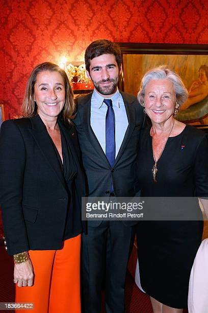 Pia de Brantes with her son Archibald Pearson and her mother Honorary President of Care France Countess Marina de Brantes attending 'La Dame De La...