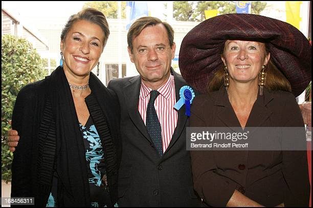 Pia De Nicolay, Louis Benech and Beatrice Augier - 85th race of the Arc De Triomphe 2006 at the Longchamp racecourse.