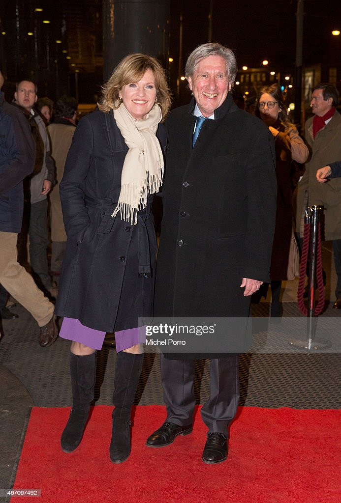 Pia Dijkstra and Gerlach Cerfontaine arrive to attend the last concert by conductor Mariss Jansons at the Royal Concertgebouw Orchestra on March 20, 2015 in Amsterdam, The Netherlands.