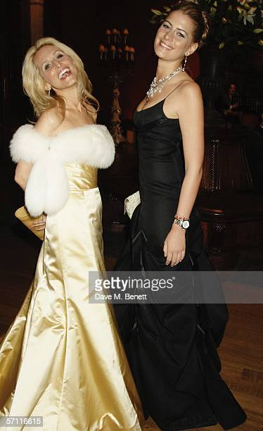 Pia Getty and guest attend the Belle Epoque Gala Dinner in celebration of the exhibition 'Americans in Paris 18601900' at The National Gallery on...
