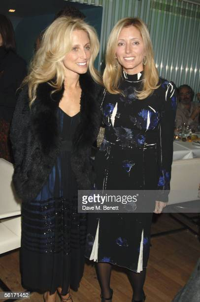 Pia Getty and her sister Princess Marie Chantal of Greece attend the India Hicks hosted dinner to launch her new book 'Island Beauty Natural...