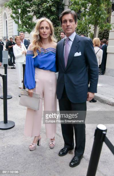 Pia Getty and Jose Antonio RuizBerdejo attend the private party for the opening of Norman Foster Foundation on May 31 2017 in Madrid Spain