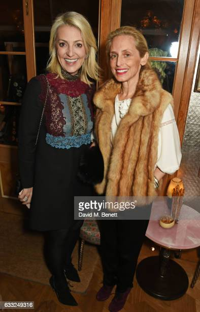 Pia Getty attends the Farms Not Factories #TurnYourNoseUp at Pig Factories benefit dinner 'Upstairs' at 5 Hertford Street on January 31 2017 in...