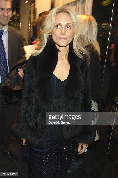 Pia Getty attends the India Hicks hosted dinner to launch her new book 'Island Beauty Natural Inspiration For Mind Body And Soul' at the Fifth Floor...
