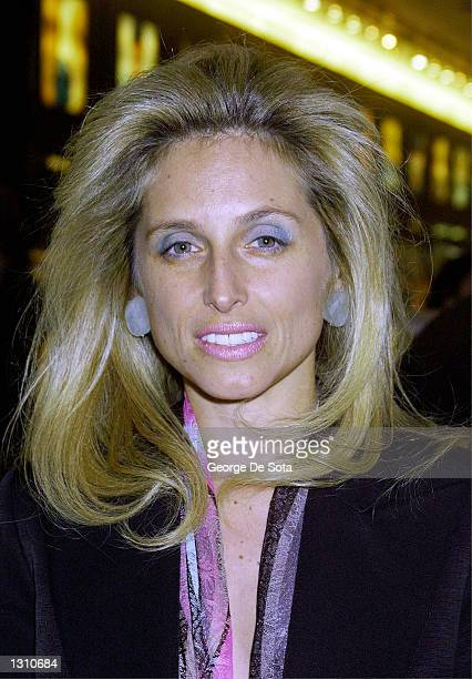 Pia Getty poses at the DeFile Cosmetics/Alice Roi fashion show December 7 2000 at the Sephora store in New York City