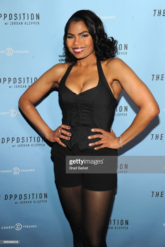 Pia Glenn attends Comedy Central's 'The Opposition w/ Jordan Klepper' premiere party at The Skylark on October 5, 2017 in New York City.