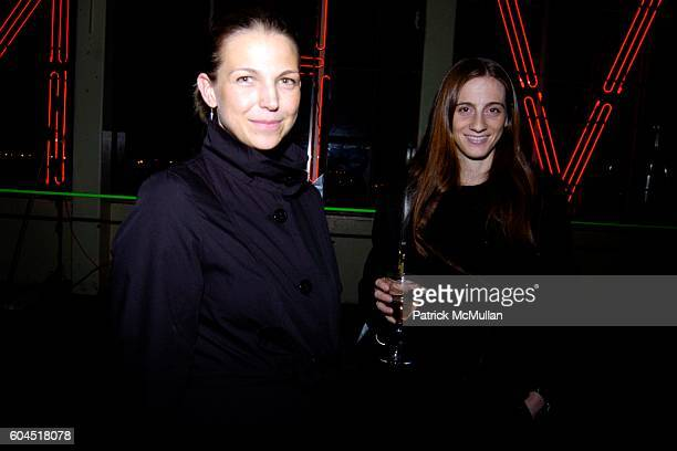 Pia Hunter and Sasha Tulchin attend The Precipice Alliance Opening Reception of Mary Ellen Carrolls' 'Indestructible Language' at Canco Lofts on...