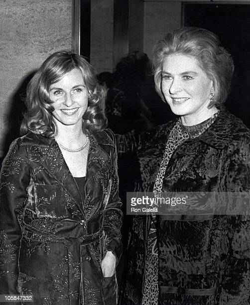 """Pia Lindstrom and Ingrid Bergman during Opening Party for """"Manners"""" at Four Season's Restaurant in New York City, New York, United States."""