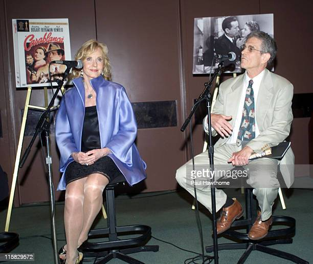 """Pia Lindstrom and Leslie Epstein during """"Casablanca"""" 60th Anniversary Event - Press Conference at Alice Tully Hall, Lincoln Center in New York City,..."""