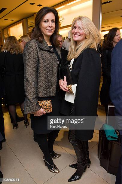 Pia Marocco and Avery Agnelli attend the launch reception of The Italian Touch on November 4 2009 in London England