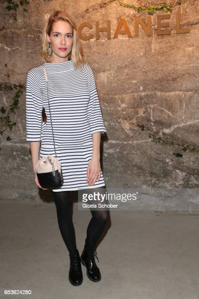 Pia Mechler wearing Chanel during the Chanel boutique opening party at Kohlebunker on March 15 2017 in Munich Germany