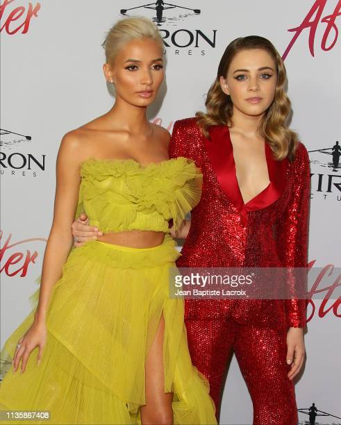 Pia Mia and Josephine Langford attend the premiere of Aviron Pictures' 'After' at The Grove on April 08 2019 in Los Angeles California