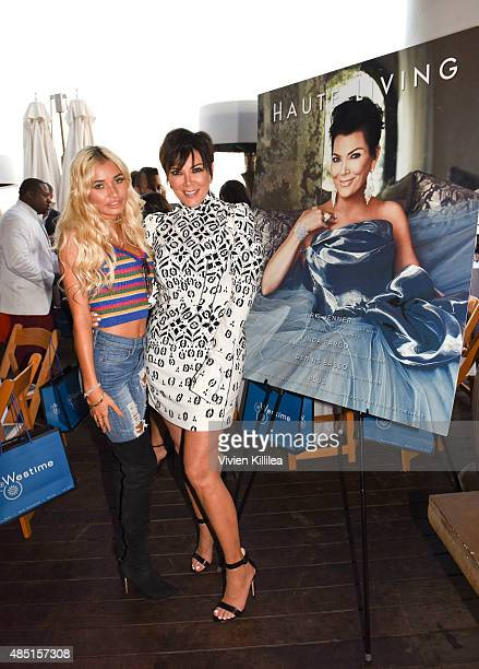 Pia Mia and Kris Jenner attend Westime Celebrates Kris Jenner's Haute Living Cover at Nobu Malibu on August 24 2015 in Malibu California